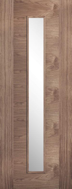 """LPD - Internal Door - Walnut Sofia Glazed 1L 1981 x 610 (24"""")  WSOFIAGL24"""
