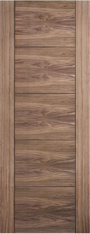 """LPD - Internal Door - Walnut Vancouver 5P 1981 x 610 (24"""")  WALVAN24"""