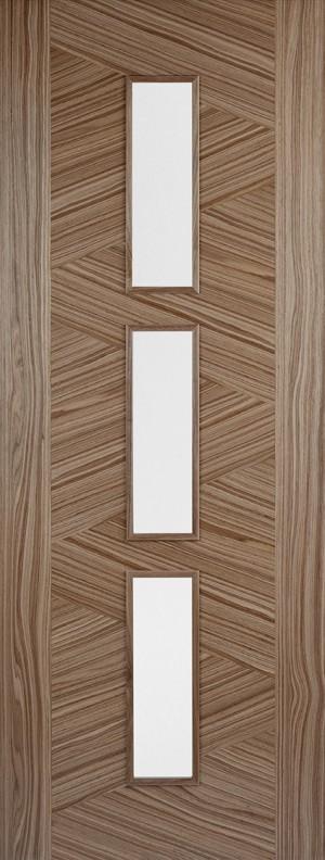 "LPD - Internal Door - Walnut Zeus Glazed 3L 1981 x 762 (30"")  WZEUS3L30"