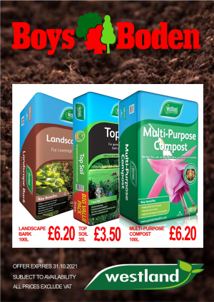 Westland Landscape Bark 100L/Top Soil 35L/Multi-P Compost 100L