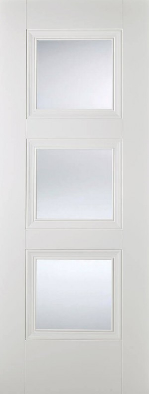 "LPD - Internal Door - White Amsterdam Glazed 3L 1981 x 686 (27"")  AMSWHIGL27"