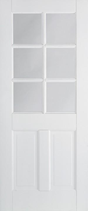 "LPD - Internal Door - White Canterbury 2P Glazed 6L 1981 x 686 (27"")  WFCAN2P6L27"