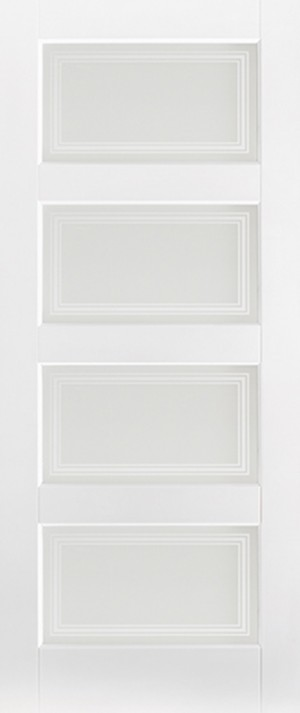 "LPD - Internal Door - White Contemporary Glazed 4L 1981 x 838 (33"")  WFCONG33"
