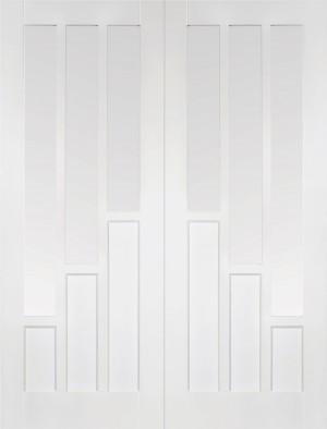 LPD - Internal Door - White Coventry Glazed Pair 1981 x 1524 mm  WFPRSCOVCG60