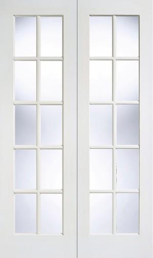 LPD - Internal Door - White GTPSA Glazed Pair 1981 x 1067 mm  WFGTPSA42