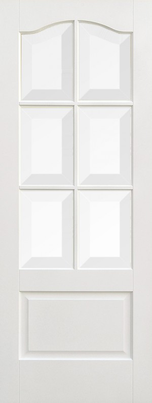 "LPD - Internal Door - White Kent Glazed 6L 1981 x 686 (27"")  WFKENCG27"