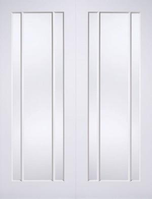 LPD - Internal Door - White Lincoln Glazed 3L Pair 1981 x 1067 mm  WFPRSLING42