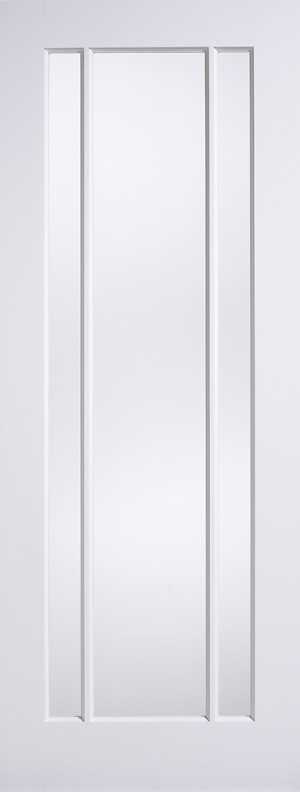 LPD - Internal Door - White Lincoln Glazed 3L 2040 x 726 mm  WFLINCOLNG726