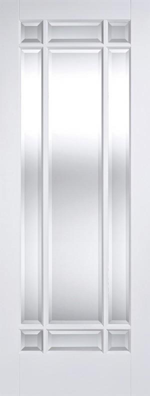 """LPD - Internal Door - White Manhattan Glazed 9L 1981 x 686 (27"""")  WFMANCG27"""