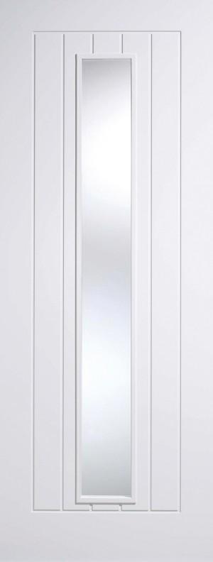 "LPD - Internal Door - White Mexicano Glazed 1L 1981 x 686 (27"")  WFMEXGL27"