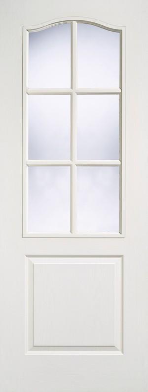 "LPD - Internal Door - White Moulded Classical 6L Glazed 1981 x 762 (30"")  CLA1P6L30"
