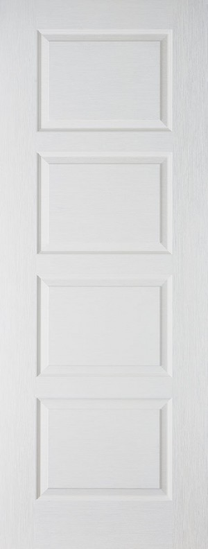 "LPD - Fire Door - White Moulded Contemporary 4P 1981 x 838 (33"")  FCTEXCON4P33"