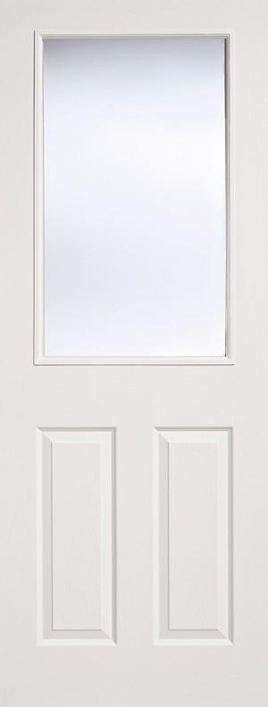 """LPD - Internal Door - White Moulded Glazed 2P-1L 1981 x 686 (27"""")  TEX2P1L27"""