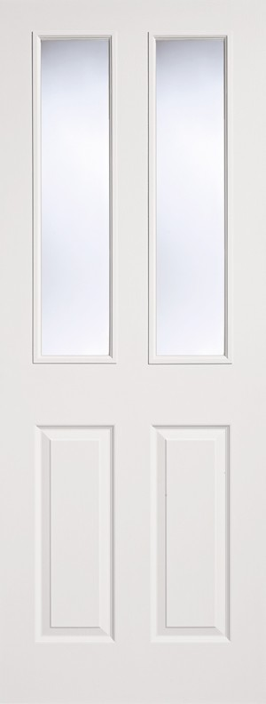 """LPD - Internal Door - White Moulded Glazed 2P-2L 1981 x 686 (27"""")  TEX2P2L27"""