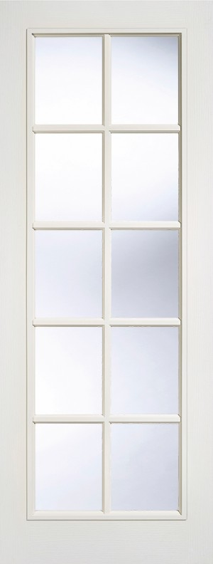 "LPD - Internal Door - White Moulded SA 10L Glazed 1981 x 686 (27"")  W10L27"