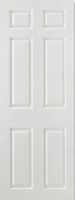 "LPD - Fire Door - White Moulded Smooth 6P Square Top 1981 x 762 (30"")  FCSMO6P30"