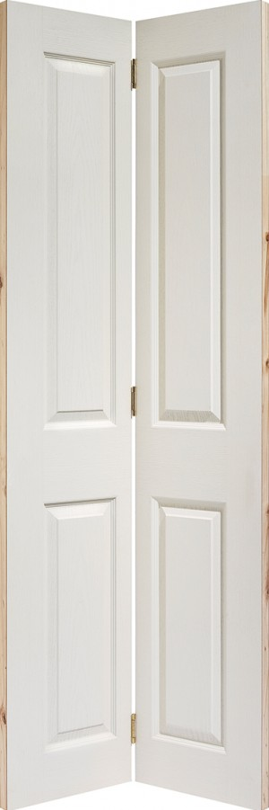 "LPD - Internal Door - White Moulded Textured 4P Bi-Fold 1981 x 762 (30"")  BFTEX4P30"
