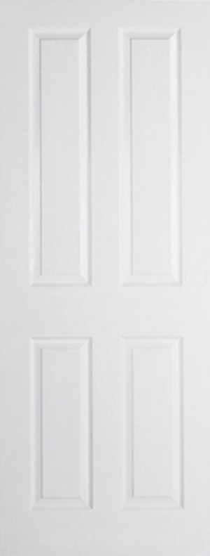 "LPD - Fire Door - White Moulded Textured 4P 1981 x 686 (27"")  FCTEX4P27"