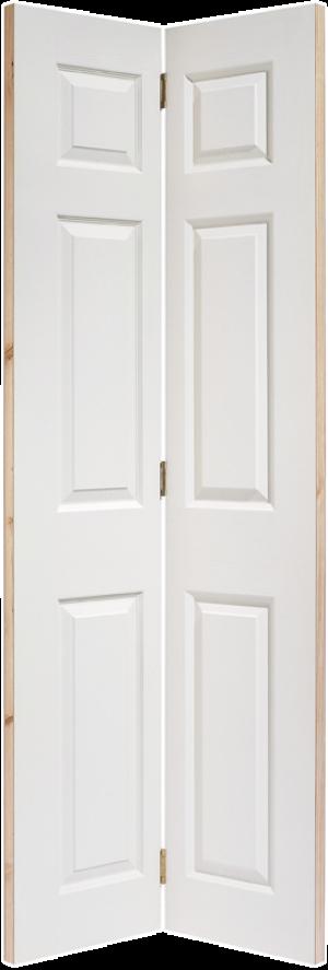 "LPD - Internal Door - White Moulded Textured 6P Bi-Fold 1981 x 762 (30"")  BFTEX6P30"