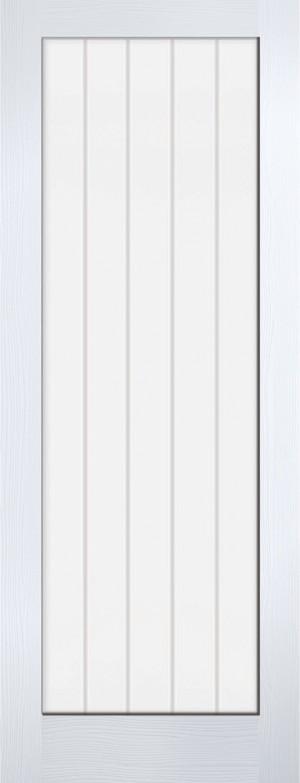 "LPD - Internal Door - White Moulded Textured Vertical 1L 1981 x 686 (27"")  TEXV1L27"