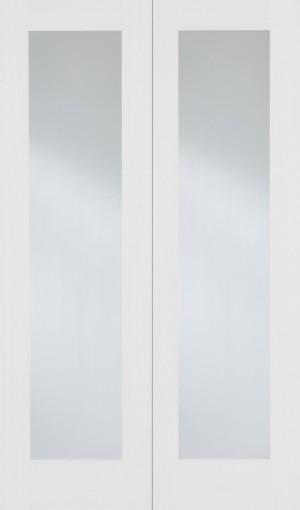 LPD - Internal Door - White Pattern 20 Glazed Pair 1981 x 1067 mm  WFPRS20G42