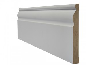 LPD - Internal Door - White Primed Skirting Ogee 3000 x 146 mm  WFOGSKI18146