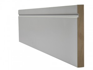 LPD - Internal Door - White Primed Skirting Single Groove 3000 x 146 mm  WFSGSKI18146
