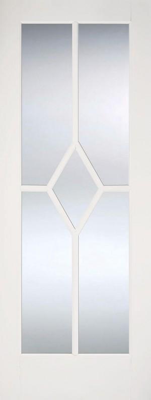 """LPD - Internal Door - White Reims Glazed 1981 x 838 (33"""")  WFREICG33"""