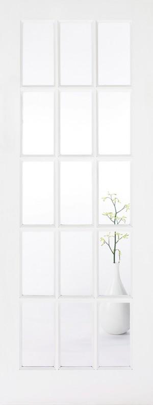 "LPD - Internal Door - White SA Glazed 15L 1981 x 686 (27"")  WFSA27"