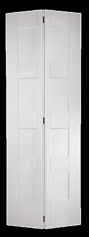 "LPD - Internal Door - White Shaker 4P Bi-Fold 1981 x 762 (30"")  BFWFSHAKER4P30"