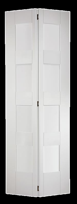 "LPD - Internal Door - White Shaker Glazed 4L Bi-Fold 1981 x 762 (30"")  BFWFSHAKER4L30"