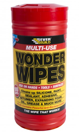 SikaEverbuild Multi-Use Wonder Wipes Tub 100pk [EVBWIPE80]