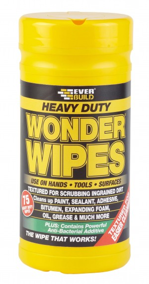 SikaEverbuild Heavy Duty Wonder Wipes Tub 75Pk [EVBWIPEHD75]