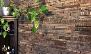 Imperial Brick Feature Wall Wood Panels - Antique Black