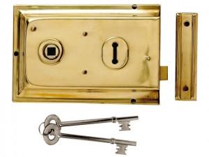 P334 Rim Lock 156 x 104mm
