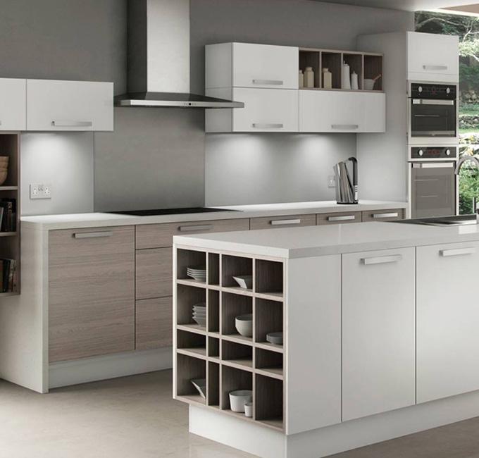 stock kitchens gloss white