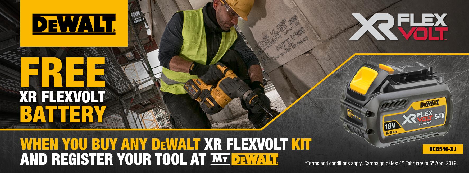 dewalt offer, free tools, battery, promotion, dewalt