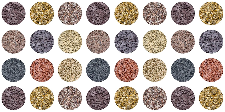 decorative aggregates, aggregate range, aggregates shrewsbury, aggregates chester