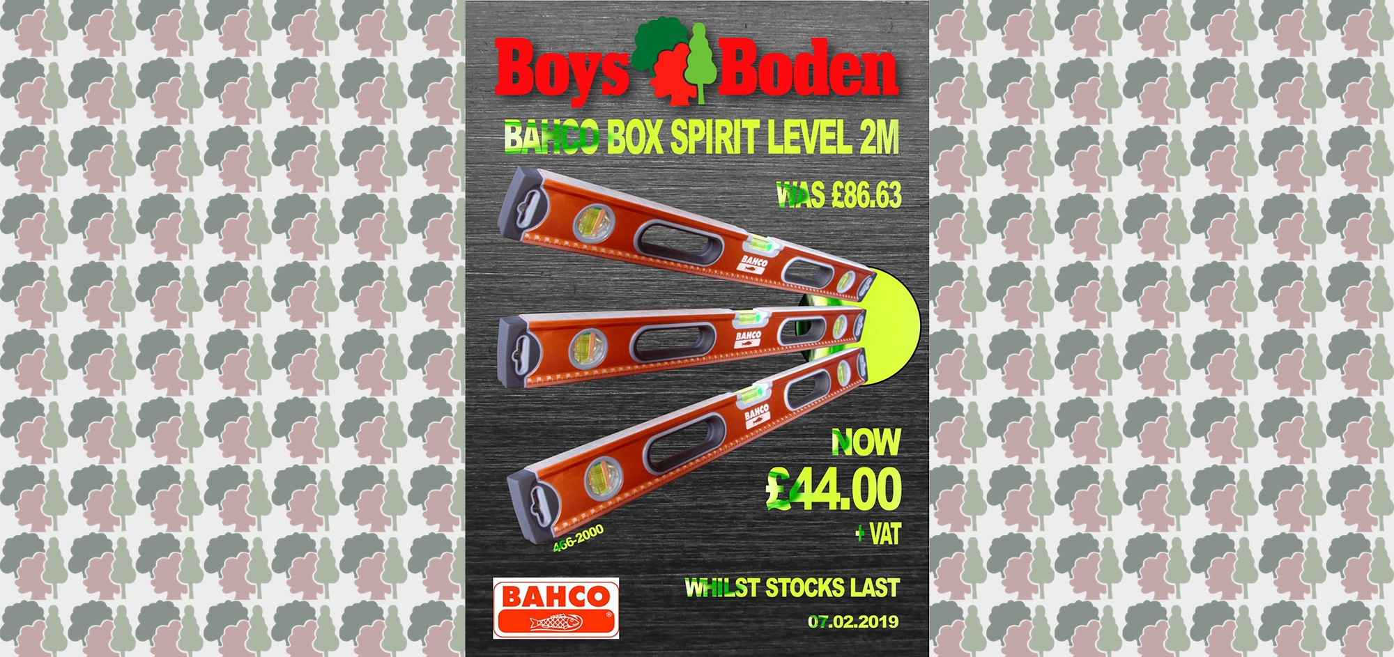 Bahco spirit level, spirit level deals, sale, offers, promotion