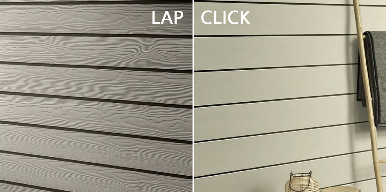 cedral click, cedral lap, fibre cement cladding,
