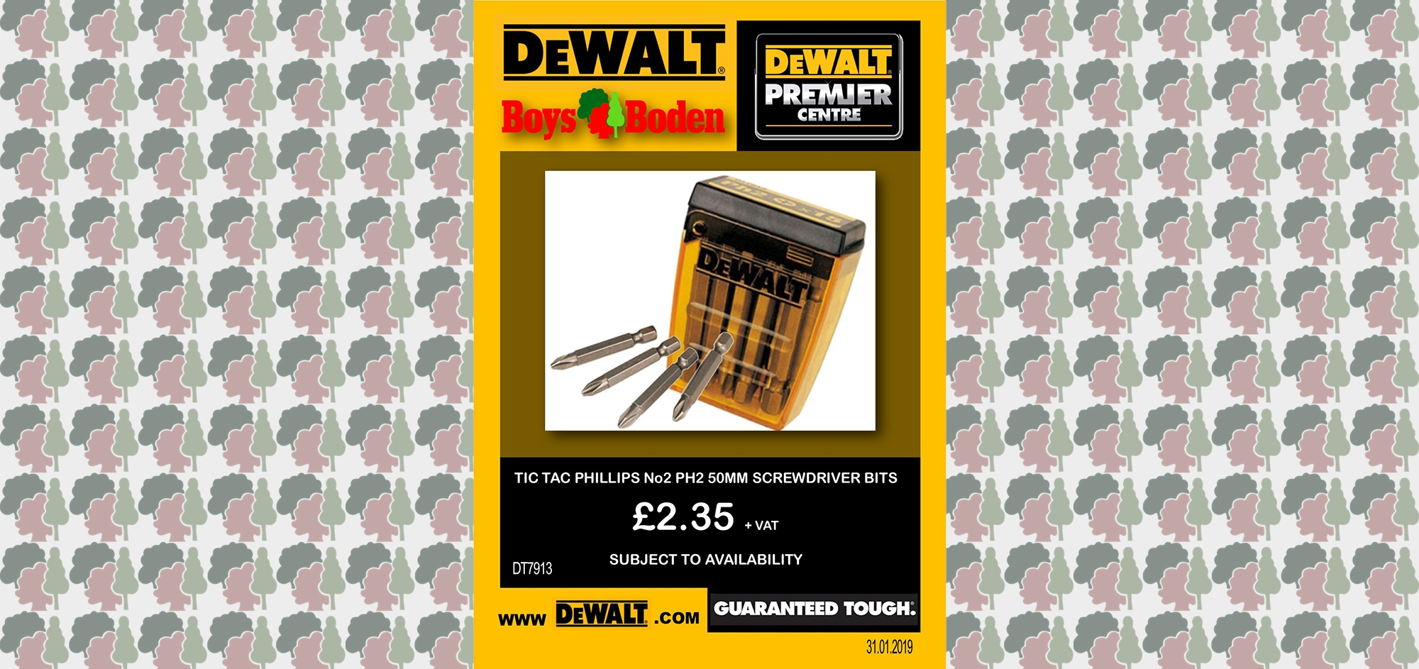 dewalt, screwdriver bits, phillips head, phillips bits