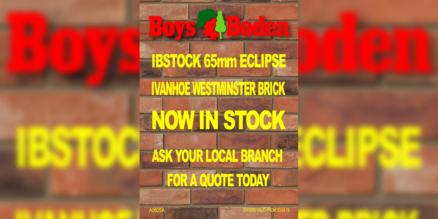 ivanhoe, brickwork, westminster brick, brick stock welshpool