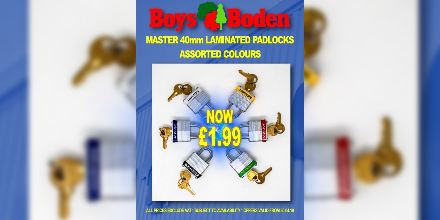 masters padlocks, security solutions and products at Boys & Boden