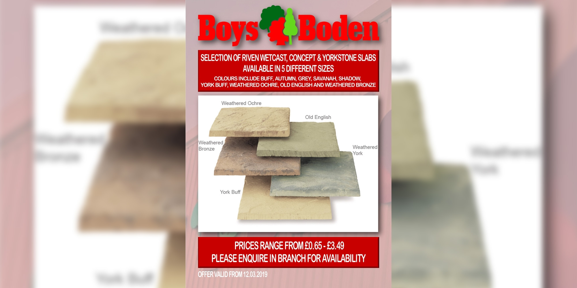 paving slabs deal, stone slabs deal, special offers, paving chester