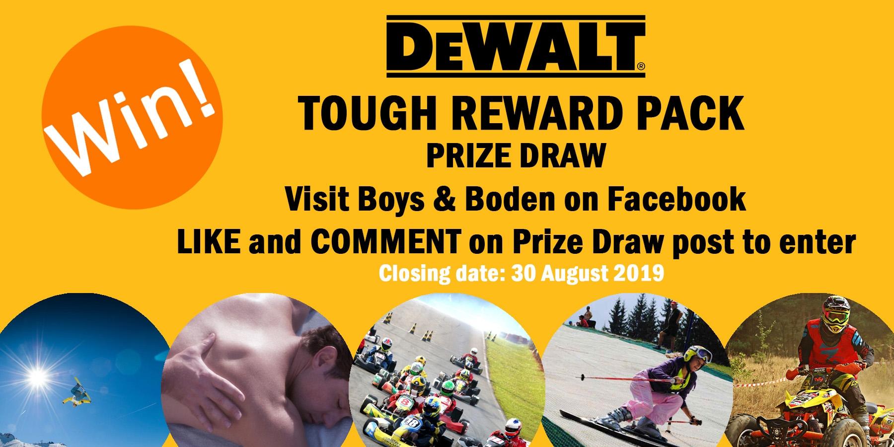 dewalt prize draw, dewalt promotion, dewalt competition, boys and boden
