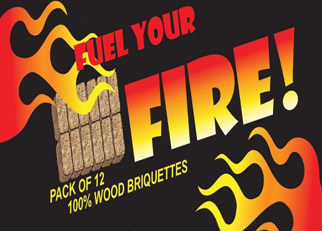 100% wood briquettes