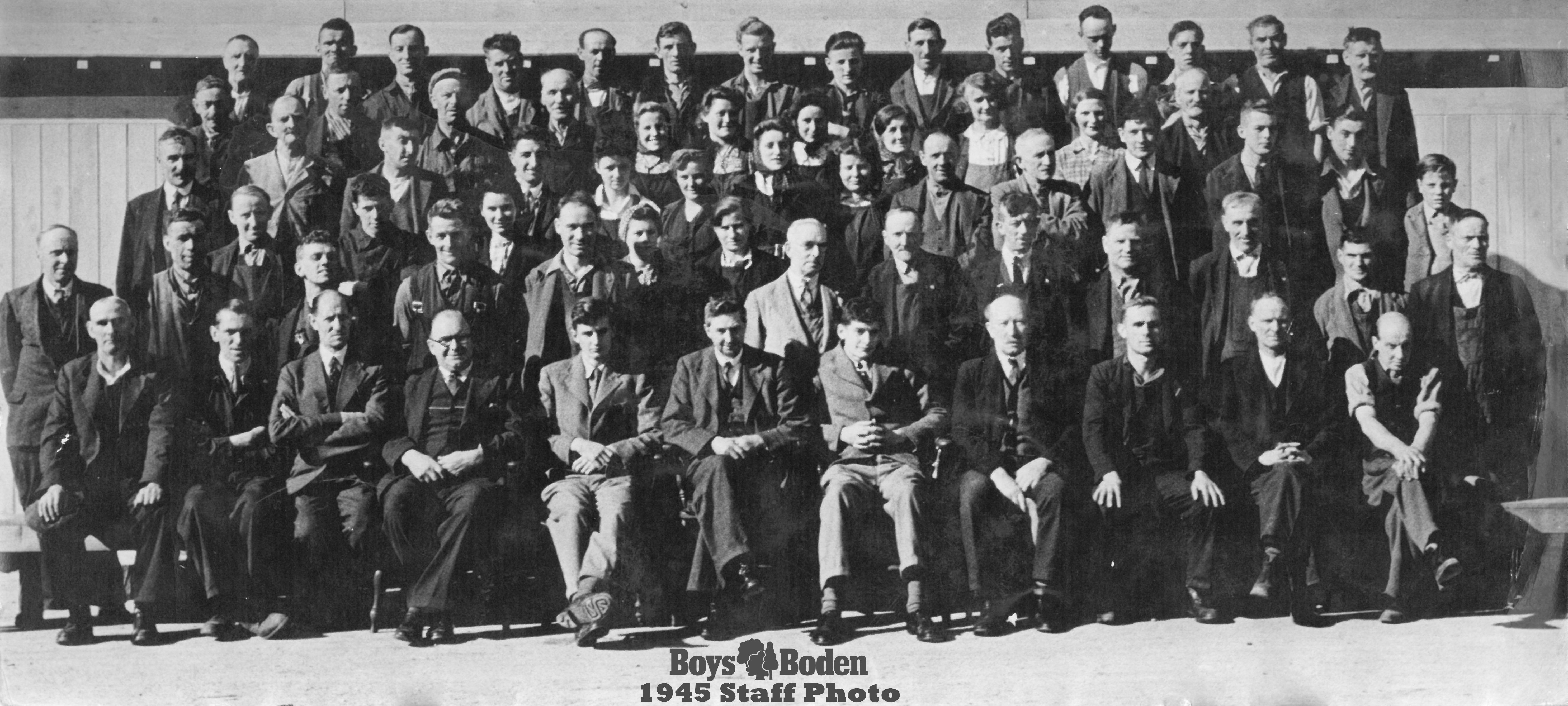 Boysa and boden staff photo 1945
